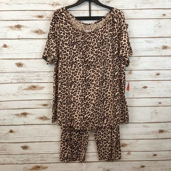 06bbe8f41c GILLIGAN   O MALLEY Soft Leopard Pajama Set